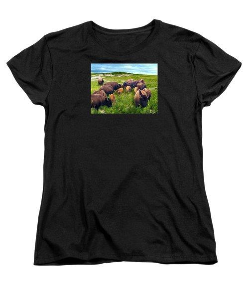 Herd Hierarchy Women's T-Shirt (Standard Cut) by Ric Darrell
