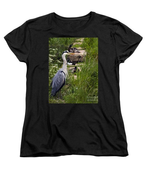 Women's T-Shirt (Standard Cut) featuring the photograph Heron by Linsey Williams