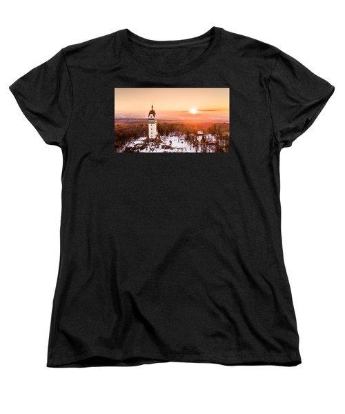 Heublein Tower In Simsbury Connecticut Women's T-Shirt (Standard Cut) by Petr Hejl