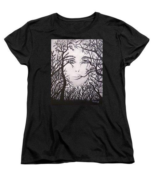 Hidden Face Women's T-Shirt (Standard Cut) by Teresa Wing