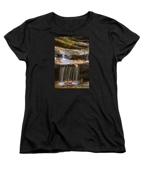 Hidden Falls Detail Women's T-Shirt (Standard Cut) by Bob Decker