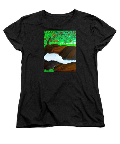 Hidden Paradise Women's T-Shirt (Standard Cut) by Lorna Maza
