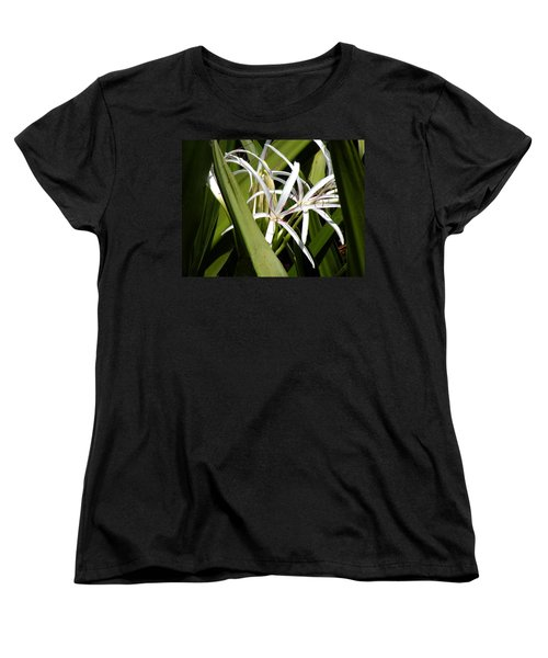 Hidden Swamp Lily Women's T-Shirt (Standard Cut) by Rosalie Scanlon