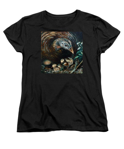 Women's T-Shirt (Standard Cut) featuring the painting Hidden Treasures by Suzanne McKee