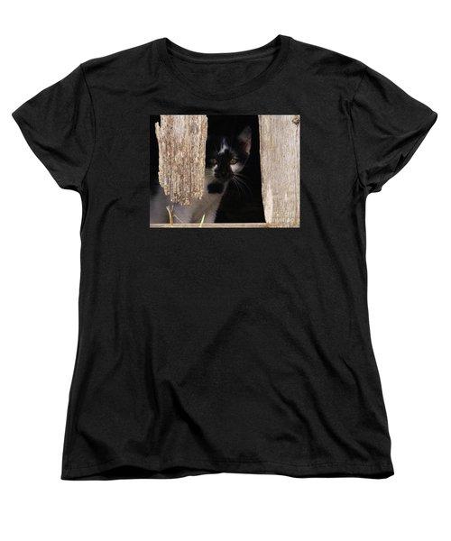 Women's T-Shirt (Standard Cut) featuring the photograph Hide And Seek by J L Zarek