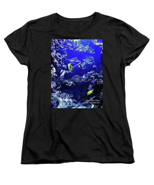 Hiding Fish Women's T-Shirt (Standard Cut) by Joan  Minchak