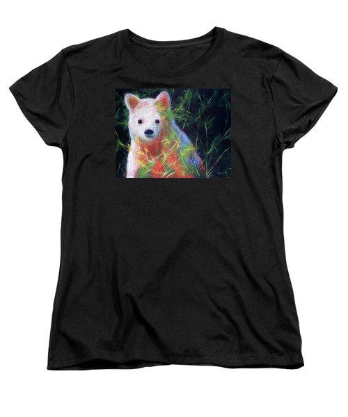 Hiding In The Vines Women's T-Shirt (Standard Cut) by Angela Treat Lyon