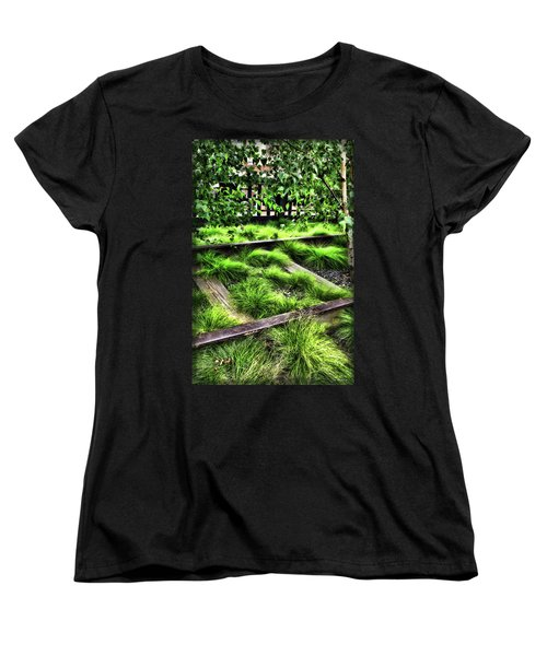 High Line Nyc Railroad Tracks Women's T-Shirt (Standard Cut) by Joan  Minchak