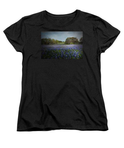 Hill Country Ranch Women's T-Shirt (Standard Cut) by Susan Rovira