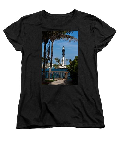 Hillsboro Inlet Lighthouse And Park Women's T-Shirt (Standard Cut) by Ed Gleichman