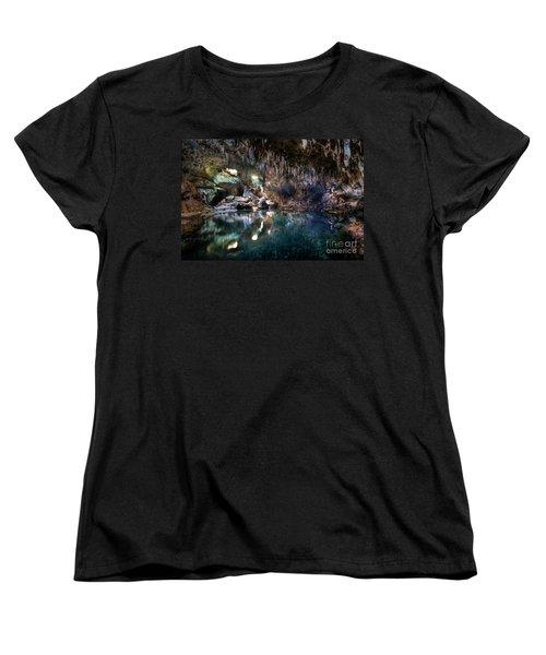 Women's T-Shirt (Standard Cut) featuring the photograph Hinagdanan Cave by Yhun Suarez