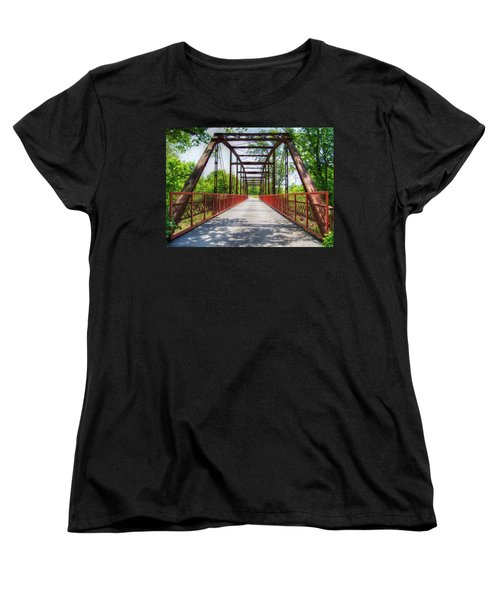 Hinkson Creek Bridge Women's T-Shirt (Standard Cut) by Cricket Hackmann