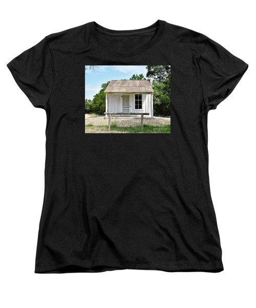 Women's T-Shirt (Standard Cut) featuring the photograph Historic Clint's Cabin by Ray Shrewsberry