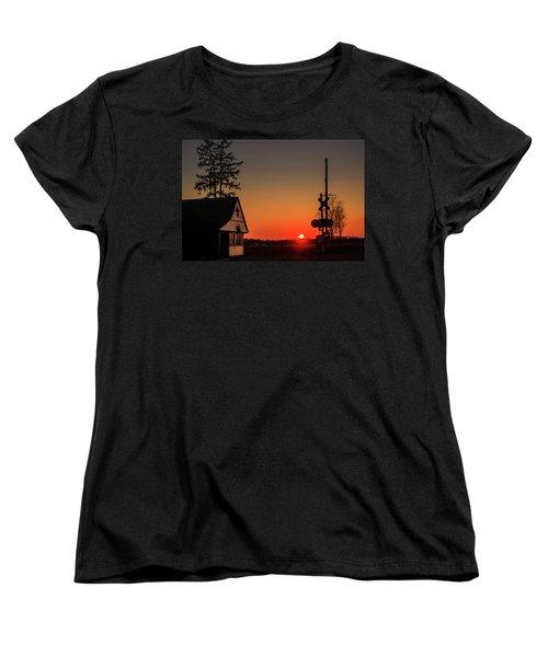 Historical Train Depot In Wayne Illinois Women's T-Shirt (Standard Cut) by Joni Eskridge