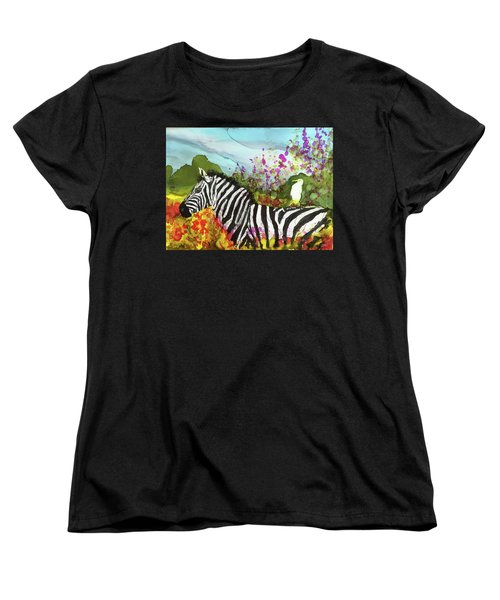 Hitching A Ride Women's T-Shirt (Standard Cut) by Suzanne Canner