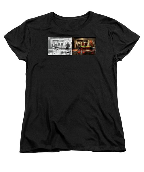 Hobby - Pool - The Billiards Club 1915 - Side By Side Women's T-Shirt (Standard Cut) by Mike Savad