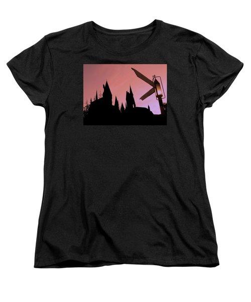 Women's T-Shirt (Standard Cut) featuring the photograph Hogwarts Castle by Juergen Weiss