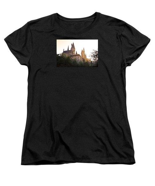 Hogwarts Dusk Women's T-Shirt (Standard Cut) by Rebecca Parker