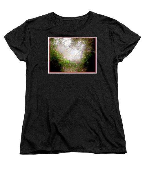 Women's T-Shirt (Standard Cut) featuring the photograph Holly Heart by Bonnie Willis