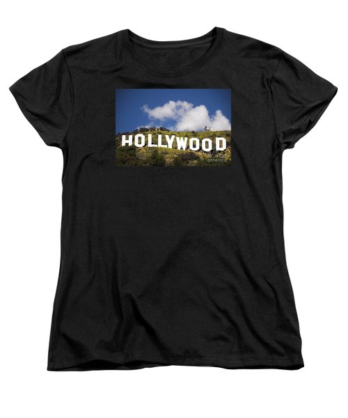Hollywood Sign Women's T-Shirt (Standard Cut) by Anthony Citro