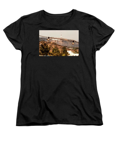 Women's T-Shirt (Standard Cut) featuring the photograph Hollywood Sign On The Hill 3 by Micah May