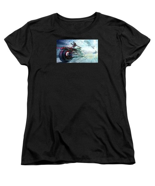 Women's T-Shirt (Standard Cut) featuring the photograph Holy Crap That Is Fast. by Lawrence Christopher