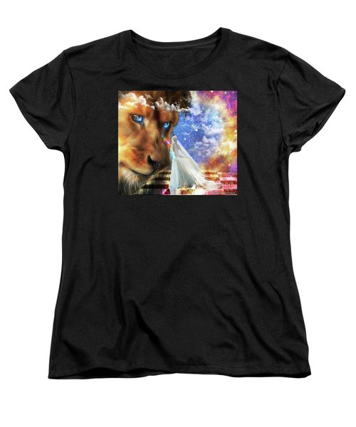 Women's T-Shirt (Standard Cut) featuring the digital art  Divine Perspective by Dolores Develde