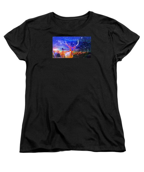 Women's T-Shirt (Standard Cut) featuring the photograph Home For The Holidays by Mike Breau