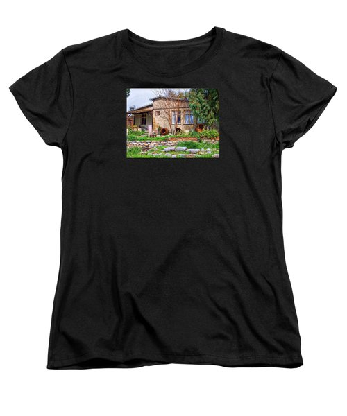 Women's T-Shirt (Standard Cut) featuring the photograph Home In Greece by Roberta Byram