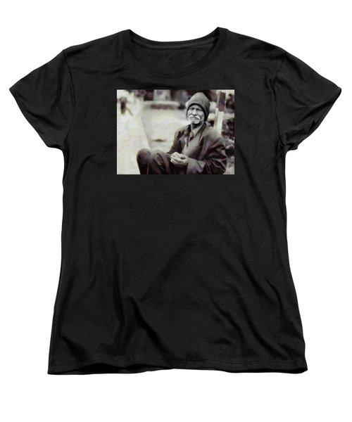 Women's T-Shirt (Standard Cut) featuring the digital art Homeless II by Gun Legler