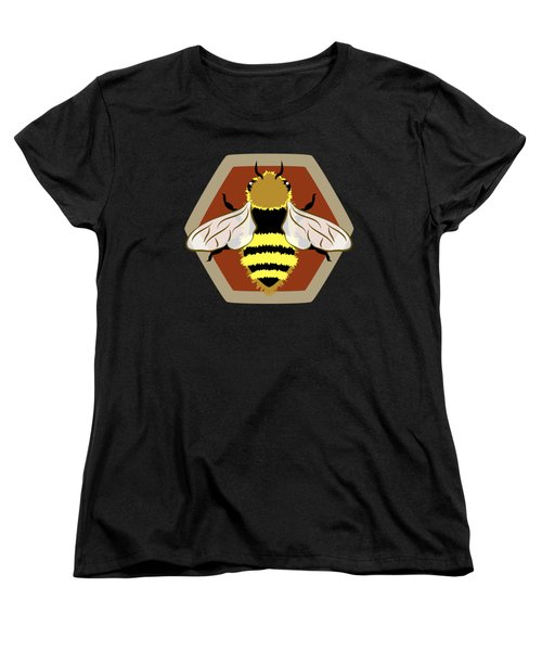 Women's T-Shirt (Standard Cut) featuring the digital art Honey Bee Graphic by MM Anderson