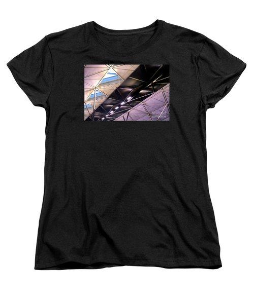 Women's T-Shirt (Standard Cut) featuring the photograph Hong Kong Airport by Randall Weidner