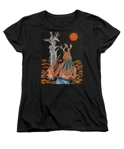 Women's T-Shirt (Standard Cut) featuring the painting Honoring by Carolyn Cable