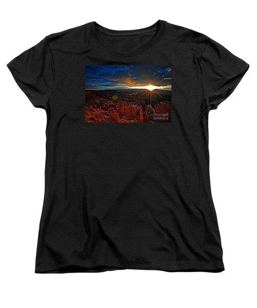 Hoodoos At Sunrise Bryce Canyon National Park Women's T-Shirt (Standard Cut) by Sam Antonio