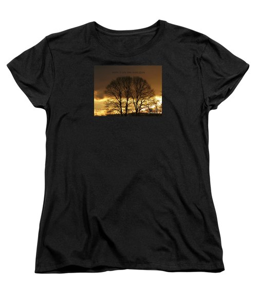 Hope Is On The Horizon Women's T-Shirt (Standard Cut) by Dee Flouton