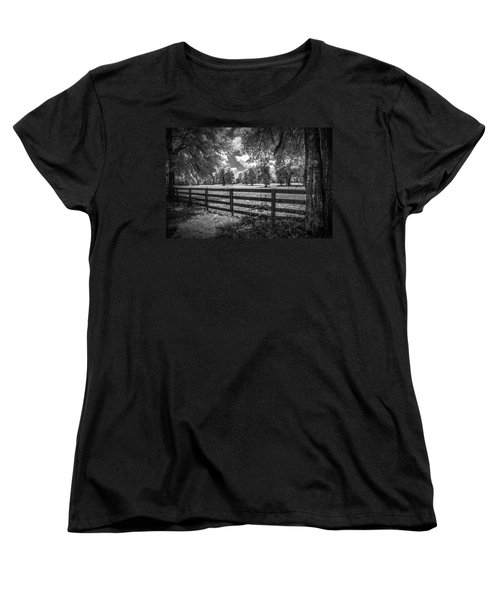 Women's T-Shirt (Standard Cut) featuring the photograph Horse Country by Louis Ferreira