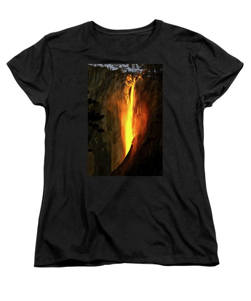 Horse Tail Fall Aglow Women's T-Shirt (Standard Cut) by Greg Norrell