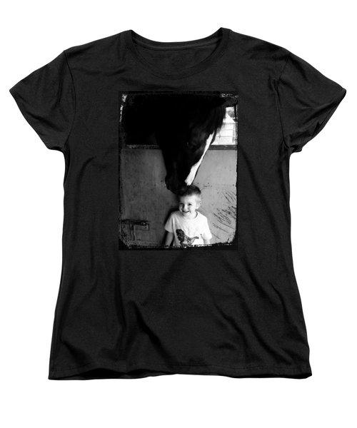 Horses Love Women's T-Shirt (Standard Cut) by Amanda Eberly-Kudamik