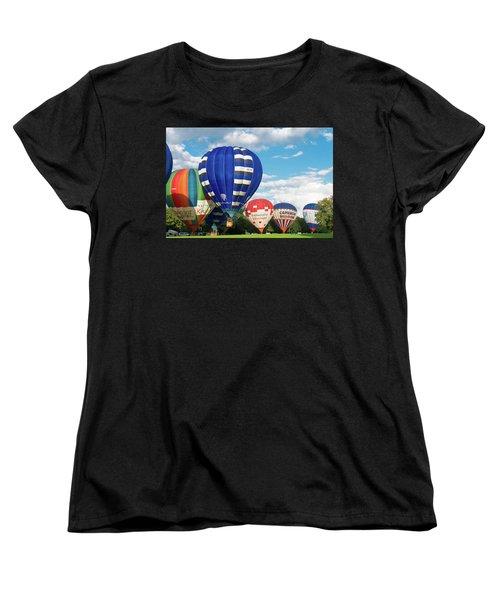 Hot Air Balloons Women's T-Shirt (Standard Cut) by Hans Engbers