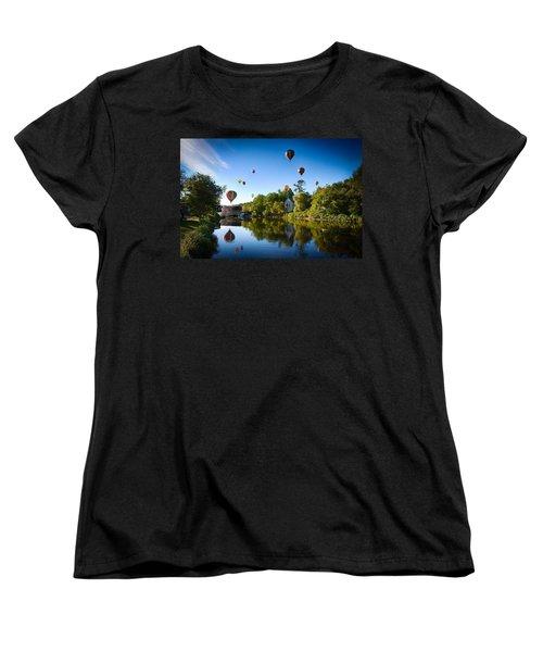 Hot Air Balloons In Queechee 2015 Women's T-Shirt (Standard Cut) by Jeff Folger