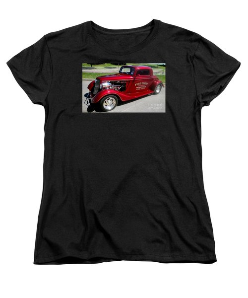 Hot Rod Chief Women's T-Shirt (Standard Cut) by Kevin Fortier