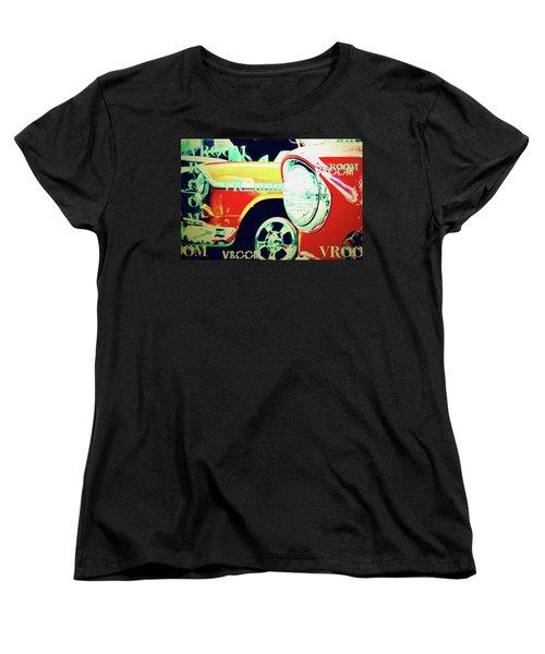 Hot Rods Go Vroom Vroom Women's T-Shirt (Standard Cut) by Toni Hopper