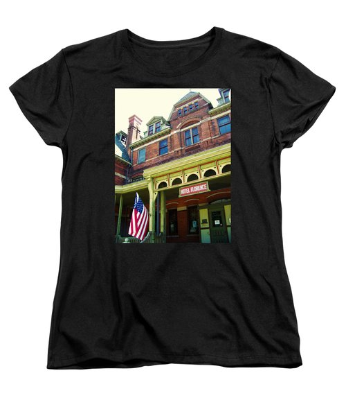 Hotel Florence Pullman National Monument Women's T-Shirt (Standard Cut) by Kyle Hanson