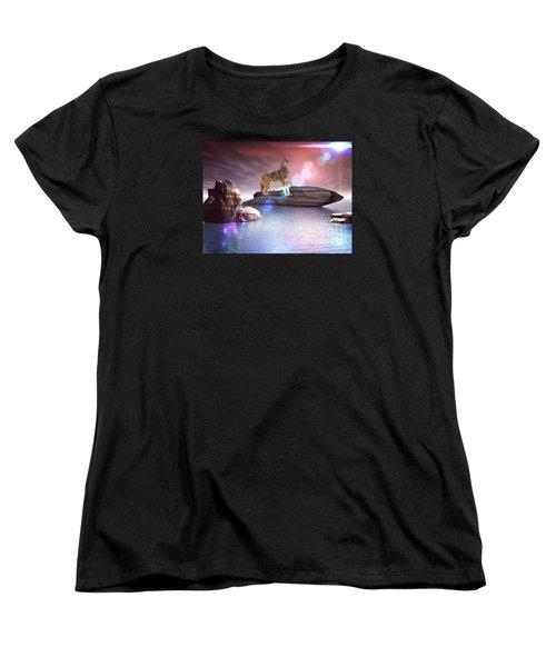 Howling Wolf Beloved Women's T-Shirt (Standard Cut) by Jacqueline Lloyd