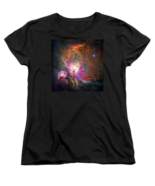 Hubble's Sharpest View Of The Orion Nebula Women's T-Shirt (Standard Cut) by Adam Romanowicz