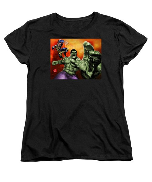 Hulk Women's T-Shirt (Standard Cut) by Pete Tapang
