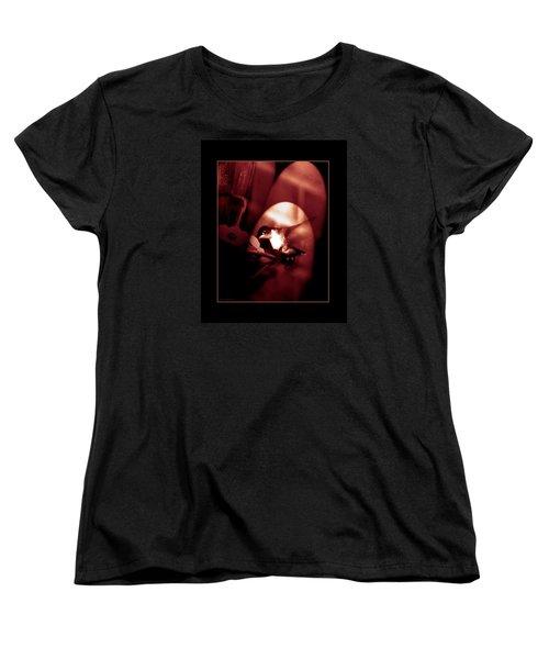 Humming Bird Feeding Tim. Women's T-Shirt (Standard Cut) by Steve Godleski