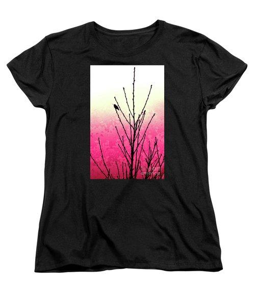 Hummingbird Valentine Women's T-Shirt (Standard Cut) by Gem S Visionary