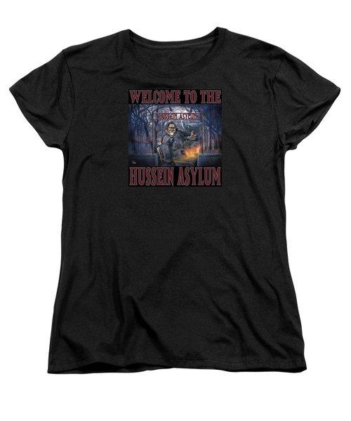 Women's T-Shirt (Standard Cut) featuring the photograph Hussein Assylum by Don Olea
