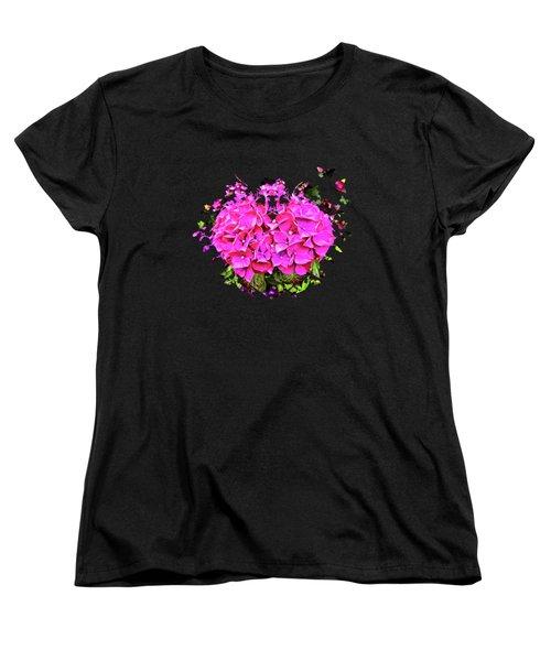 For The Love Of Hydrangeas Women's T-Shirt (Standard Cut) by Thom Zehrfeld